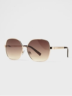 Metal Oversized Sunglasses