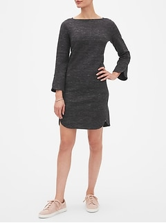 Tulip Sleeve Sweatshirt Shift Dress