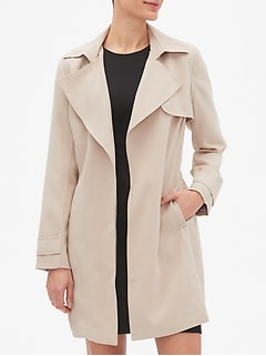 Petite Soft Trench Coat