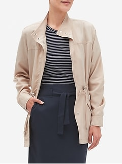 Petite Tencel Military Jacket