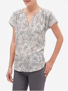 Dolman Print Sleeve Top
