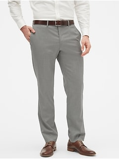 Slim-Fit Grey Textured Trouser