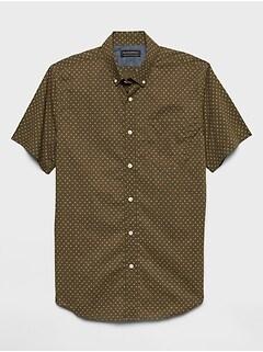 Slim-Fit Soft-Wash Print Shirt