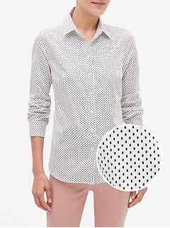 Geo Print Tailored Non-Iron Shirt