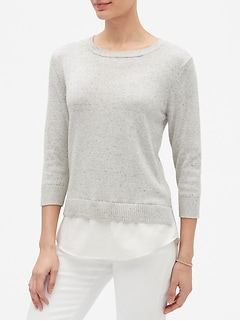 Shirttail Crew Neck Sweater