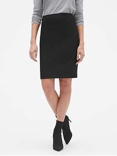 Petite Washable Classic Black Pencil Skirt