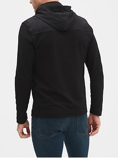 Half Zip Sweatshirt with Hoodie