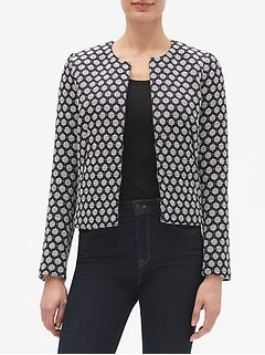 Dot Jacquard Coco Jacket