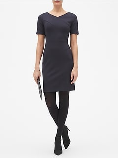 Tailored Pindot Sheath Dress