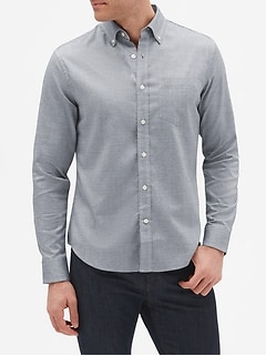 Slim-Fit Untucked Oxford Shirt