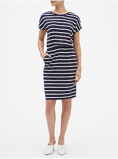 Petite Stripe T-Shirt Shift Dress