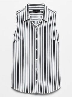 Petite Print Drapey Classic Shirt