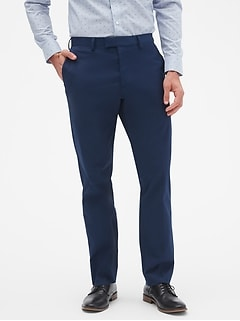 Techmotion Aiden Slim-Fit Stretch Navy Trouser