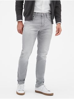 Techmotion Slim-Fit Washed Grey Jean