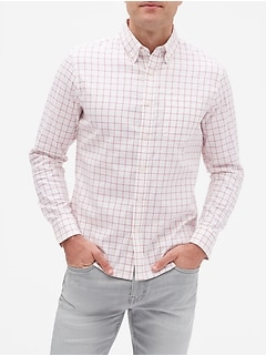 Slim-Fit Yarn Dyed Untucked Oxford Shirt