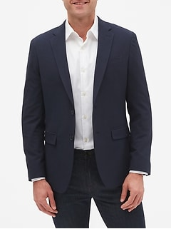 Slim-Fit Seersucker Blazer