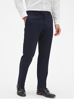 Slim-Fit Seersucker Trouser