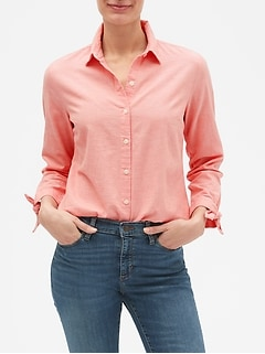 Chambray Tie-Sleeve Classic Shirt