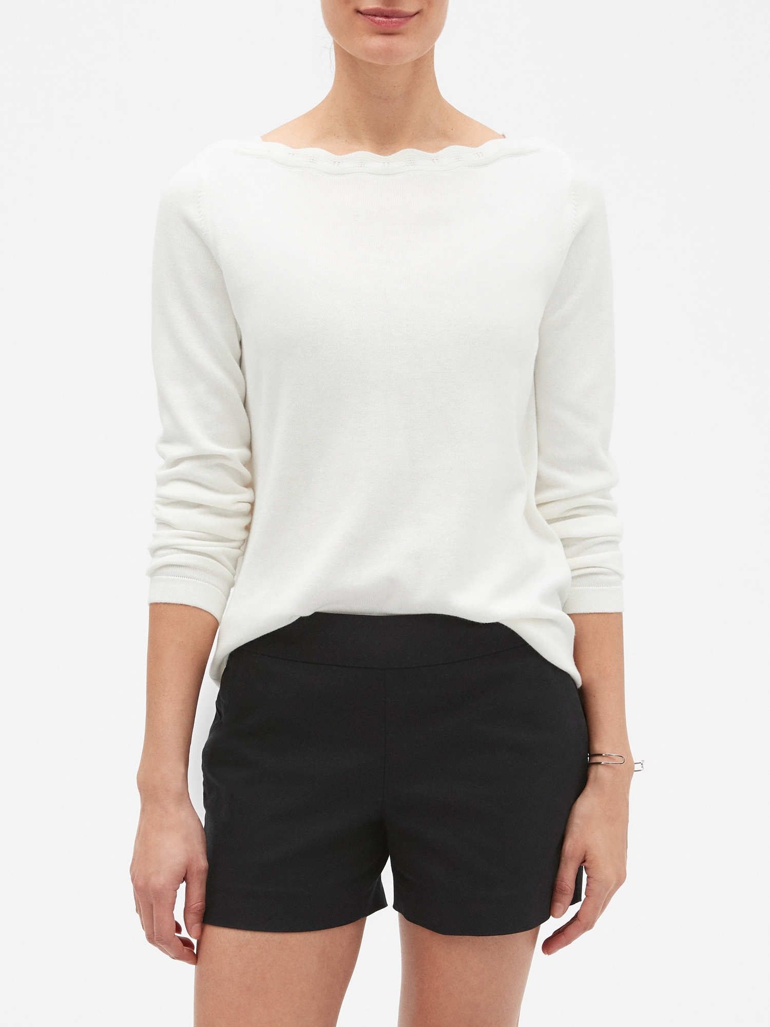 Forever Scallop Boatneck Sweater