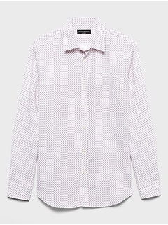 Slim-Fit Linen Blend Shirt