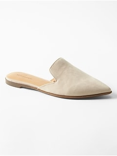Vegan Suede Closed Toe Mule