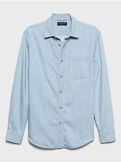 Slim-Fit Cotton TENCEL™ Chambray SuperSoft Shirt