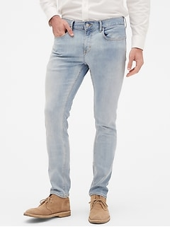Skinny-Fit Bleached Indigo Jean