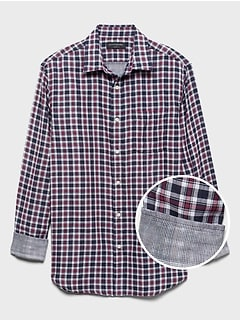 Standard-Fit Double-Weave Shirt