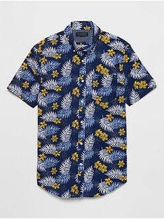 Slim-Fit Soft Wash Print Shirt
