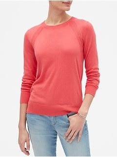 Machine Washable Forever Diagonal Ribbed Crew Neck Sweater