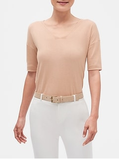 Knot Back V-Neck Sweater