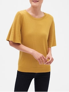 Machine Washable Forever Flare Sleeve Crew Neck Sweater