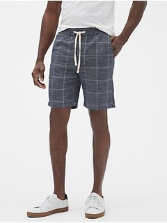 "9"" Windowpane Deck Shorts"