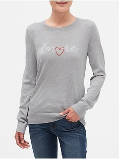 Machine Washable Forever A'More Crew Neck Sweater