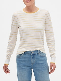 Stripe Machine Washable Forever Crew Neck Sweater