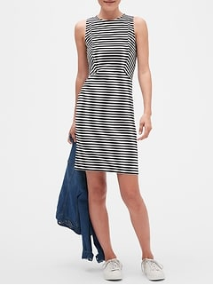 Petite Stripe Seam Sheath Dress