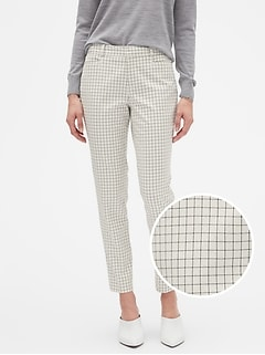 Sloan Windowpane Slim Ankle Pant