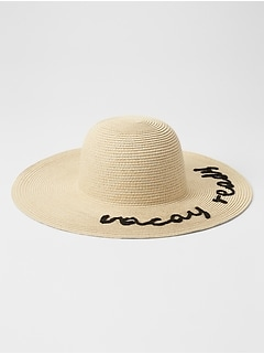 """Vacay Ready"" Wide Brim Hat"