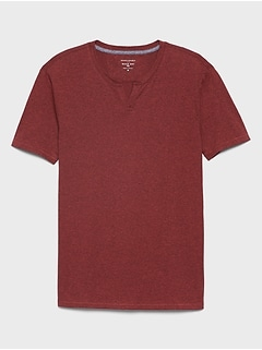Quick Dry Notch Neck T Shirt