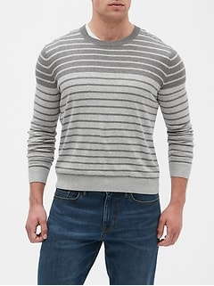 All Season Stripe Crew Neck Sweater