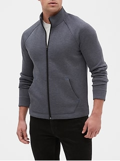 Zip Front Mock-neck Athletic Jacket
