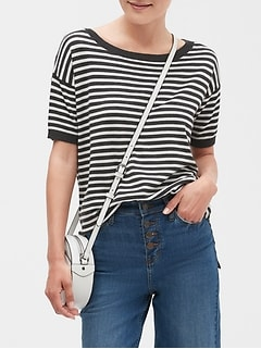 Stripe Sweater T Shirt