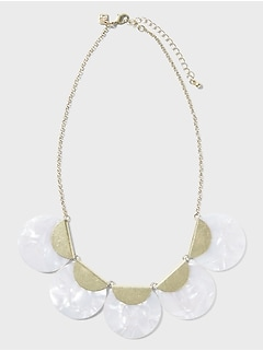 Resin Circles Gold Necklace