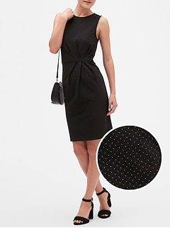 Textured Pindot Sheath Dress