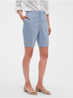 60165c2f99 Tailored Seersucker Bermuda Shorts - 10 inch inseam