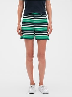 Tailored Stripe Shorts - 5 inch inseam