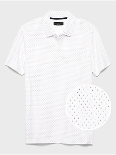 Microprint Dress Polo