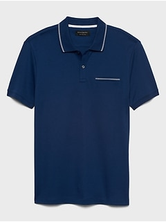 Slim-Fit Tipped Dress Polo