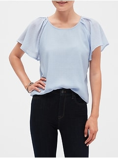 Pleat Shoulder Top