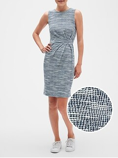 Knit Tweed Sheath Dress